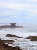Rough Atlantic Ocean in Essaouira, Morocco Stock Photo