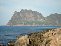 Rough and beautiful landscape Lofoten Islands Stock Photos