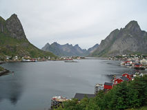 Rough and beautiful landscape Reine Stock Image