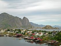 Rough and beautiful landscape Reine Royalty Free Stock Images