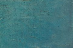 Rough blue colored Korean or Japanese traditional paper. royalty free stock image