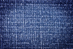 Rough blue denim cloth close up Royalty Free Stock Image