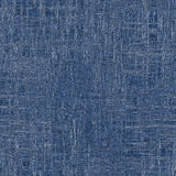 Rough blue fabric with visible threads Stock Photo