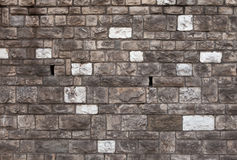 Rough bossage stone masonry. Background texture Royalty Free Stock Images