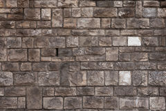 Rough bossage stone masonry. Background texture Royalty Free Stock Photos