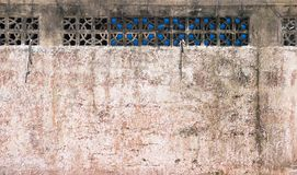Rough brick red wall. With windows texture background Royalty Free Stock Photography