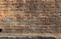 Rough brick wall background. Royalty Free Stock Images