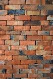 Rough brown brick wall background texture Stock Photos