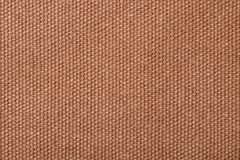 Rough brown canvas background Royalty Free Stock Photos
