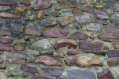 Rough brown stone wall background Royalty Free Stock Image