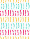 Rough brush green pink and yellow vertical paint strokes Stock Photo