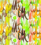 Rough brush green yellow and brown overlapping strokes Royalty Free Stock Photo