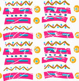 Rough brush pink ribbons with blue Royalty Free Stock Images