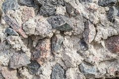 Rough and bumpy texture of a crushed stone Royalty Free Stock Image