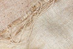 Rough burlap, textile closeup Stock Photo