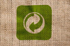 Free Rough Canvas With Recycle Sign. Stock Photography - 15848492