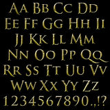 Rough chisel stone font with brushed texture. Old roman font. Inspired by Tolkien Hobbit Royalty Free Stock Images