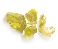 Rough Citrine Royalty Free Stock Photos