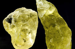 Rough Citrine Royalty Free Stock Photography