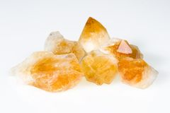 Rough citrine gemstones Stock Images
