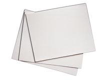 Rough clean watercolor paper on white Royalty Free Stock Photo