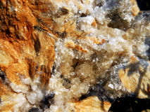 Rough-close up. Rock stone elements nature geological mineral evolution geode crystal growth Stock Photo