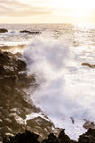 Rough coast with huige waves Stock Photos