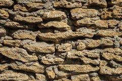 Rough coquina stones wall Royalty Free Stock Photos