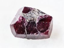 Free Rough Crystal Of Red Garnet Gemstone On White Stock Images - 113711334