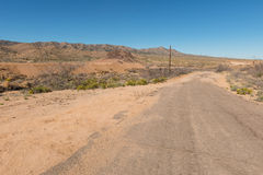 Rough desert road. Rough road through the desert, Hackberry, Arizona Stock Photo