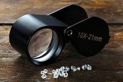 Rough diamonds Stock Image