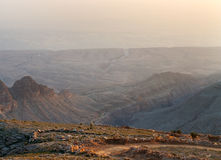 A rough dirt road in mountains Oman. Stock Photo