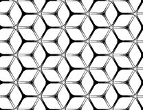 Rough drawing styled futuristic hexagonal grid. Rough drawing styled futuristic hexagonal seamless grid Royalty Free Stock Photos