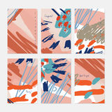 Rough drawn scribbles dots and circle abstract floral Stock Photo