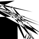 Rough, edgy geometric texture. Abstract black and white illustra Stock Photo