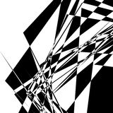 Rough, edgy geometric texture. Abstract black and white illustra Stock Images
