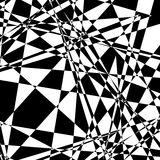 Rough, edgy geometric texture. Abstract black and white illustra Stock Image