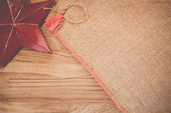 Rough fabric with decorations Royalty Free Stock Image