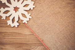 Rough fabric with decorations Royalty Free Stock Photo
