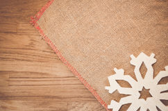 Rough fabric with decorations Royalty Free Stock Photos