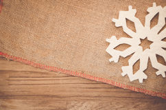 Rough fabric with decorations Stock Image