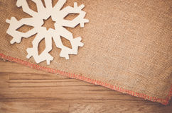 Rough fabric with decorations Stock Images