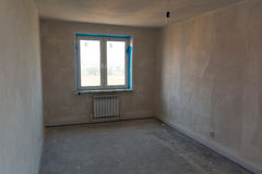 Rough-finished apartment Royalty Free Stock Photo