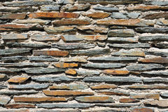 Rough flagstone wall surface Royalty Free Stock Photo