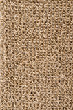 Rough flax fabric with loops Royalty Free Stock Photos