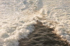 Rough, foaming water in sea Royalty Free Stock Image