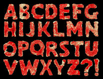 Rough font of red paper Royalty Free Stock Images