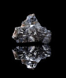 Rough Galenite mineral. Rough rock of galenite a lead sulphide Royalty Free Stock Photo