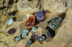Rough gems Stock Photos