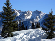 Rough Going. Deep rough snow at high altitude in the Rocky Mountains stock image